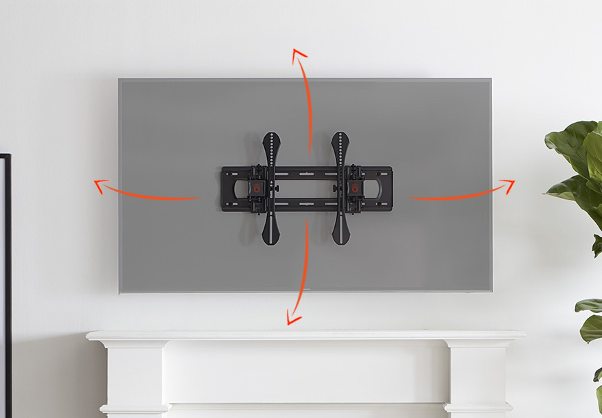 tilting tv mount for over fireplace